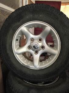 Basically New Set of Dodge Mags With Winter Tires