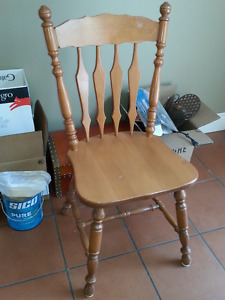 Dining table 4 chairs set kitchen wood