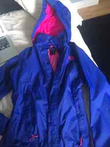 Blue & Pink Northface Womens Rain Jacket.