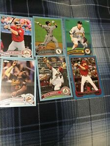 6 Mixed Baseball Cards-1 Bowman AJ Pollock Blue Rookie #376/500