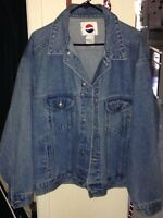 Jeans jacket from Pepsi company/ Manteau Jeans