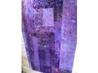 Antique overdyed patchwork rug