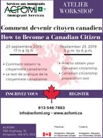 Atelier: Comment devenir citoyen canadian