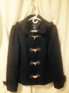 Ladies Bluenotes Navy Blue Pea Jacket (Cold Weather) Size L/XL