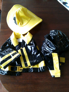 Dog 3 piece Firefighter Halloween Costume Size Small