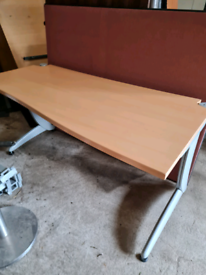 Steelcase beech office desks