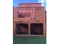 Outdoor small animal hutch.
