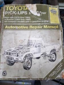 Manuel shop Toyota pick-up