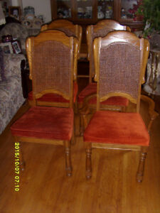 Furniture OAK HIGH BACK WING CHAIR - $225