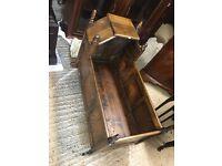 Victorian Wooden Rocking Cradle
