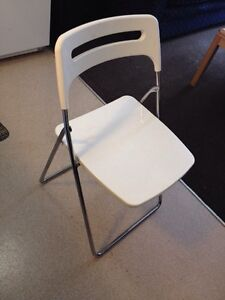 Ikea nisse folded folding chair white stainless