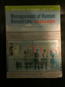 Management of Human Resources: The Essentials (4th Can. Edition)