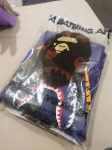 Size M Bape Full Zip Shark Camo