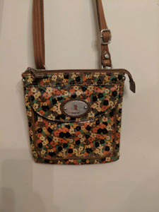 Original Fossil Key-Per crossbody purse with flowers detail