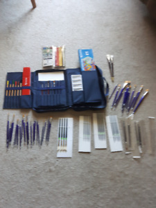 Artist's supplies - Brushes, Travel kit, watercolors.  All new