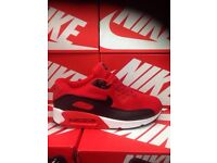 Nike Air Max 90's Running Shoes Red & Black