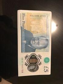 AK47 £5 Note Mint Condition
