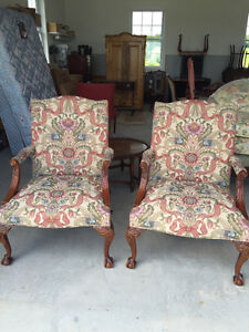 TWO Spectacular, Upholstered Chairs Peterborough Peterborough Area image 1