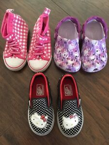 HELLO KITTY SHOES FOR TODDLER SIZE 7.5 & 8 CROCS VANS H&M