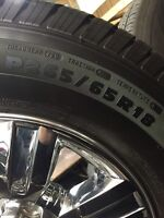 """Chrome 18"""" Ford wheels and Michelin tires"""