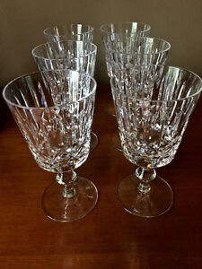 Set of SIX Waterford Lismore Claret 6-Ounce Wine Glasses