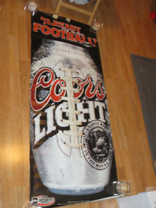 Monday Night Football Coors Light Banner From Cleveland Stadium