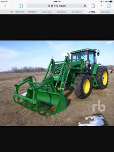 Wanted jd 740 loader with bucket and grapple