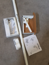 IKEA extendable curtain pole with brackets FREE