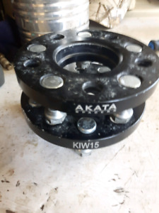 akata wheel spacers 1/2 inch just have two