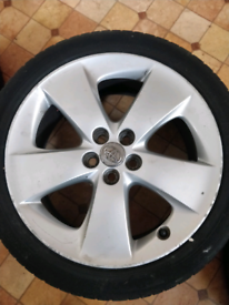 Original Toyota Prius Wheels(Good Condition)With Almost New Tyres.