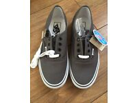 Grey vans new with tags & box