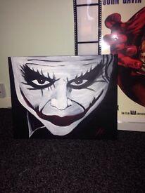Joker painting canvas