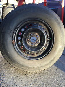 235/70/R16 Michelin Winter tires and rims