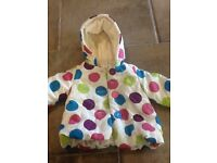 M&Co girls jacket 3-6months