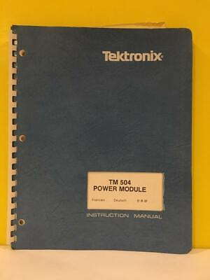 Tektronix 070-1716-01 Tm 504 Power Module Instruction Manual