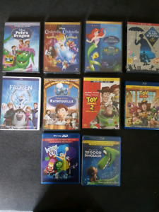 Disney blu rays and DVDs. Cinderella 2&3 etc.
