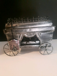 Metal hearse for decor