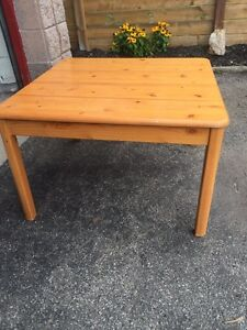 Two pine end tables / coffee tables