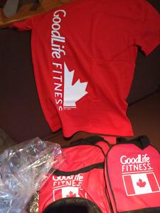 Brand New Goodlife Gym Bag and T-shirt
