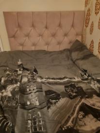 Pink double divan bed