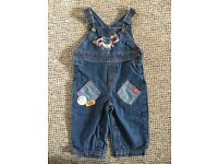 Baby boys dungarees 6-9 mths As New!