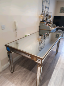 Fabulous Large Mirrored Dining Table ONLY Brand New