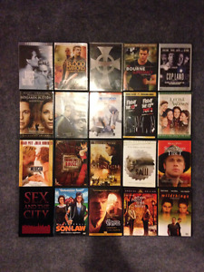 DVDs $20 for all 20