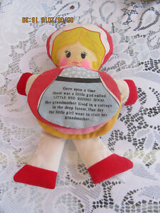 LITTLE RED RIDING HOOD STORYBOOK FLIP CLOTH DOLL