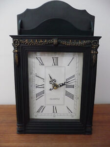 WALL CLOCK LETTER HOLDER HIDDEN KEYS OR FREE STANDING