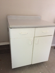 3 piece kitchen cabinets (need some repair)