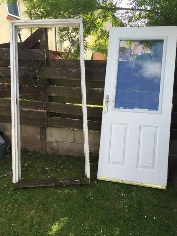Rear back door with frame united kingdom gumtree for Back door and frame set