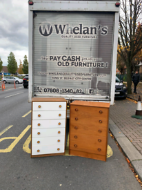 2 tall chests of drawers £40 a piece