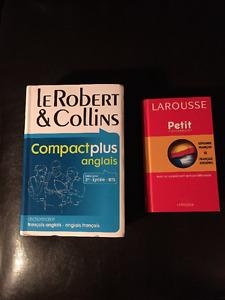 Dictionnaires Anglais/Espagnol/Français