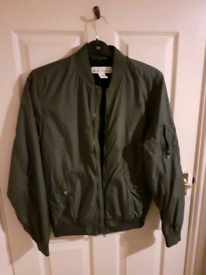 Lightweight green bomber jacket